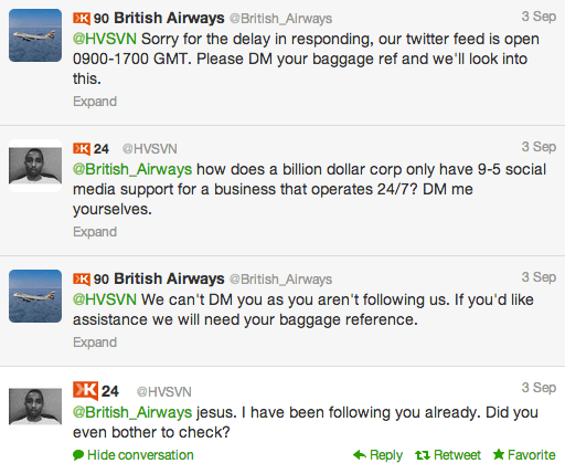 british-airways-replied to customer query