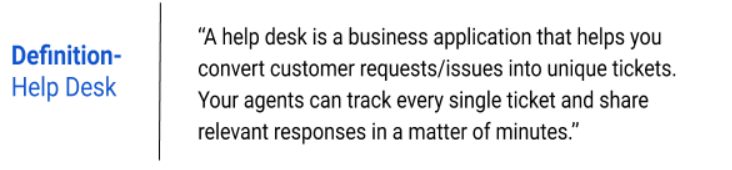 Help desk definition