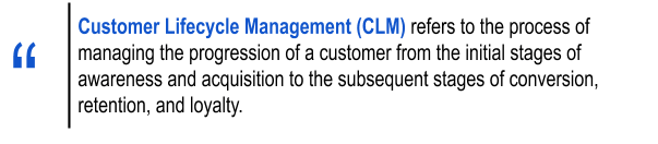 What is customer lifecycle management