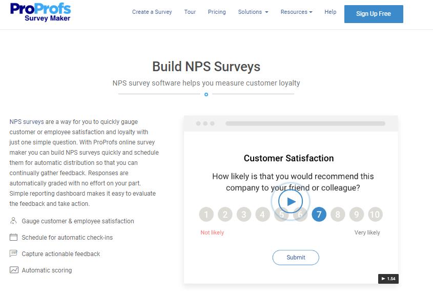 Build NPS Survey
