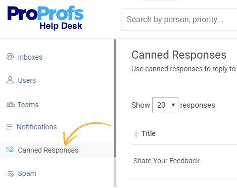 Save time using canned responce