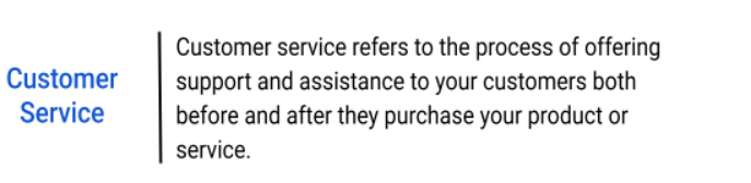 What is Customer Service