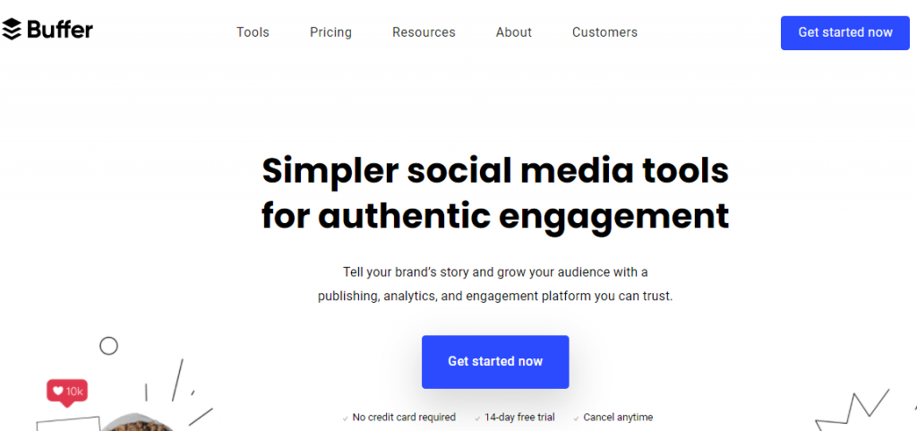Buffer social media customer service tools