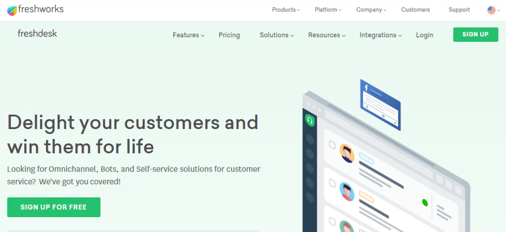 Freshdesk help desk tool for customer service
