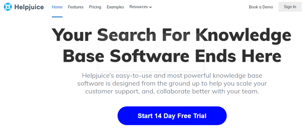 Helpjuice customer service tool