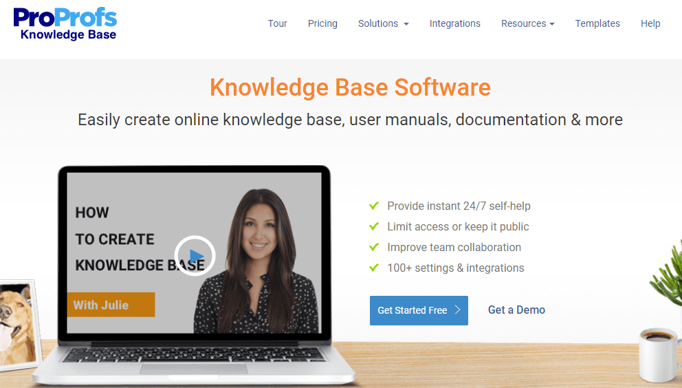 ProProfs knowledge base for customer service