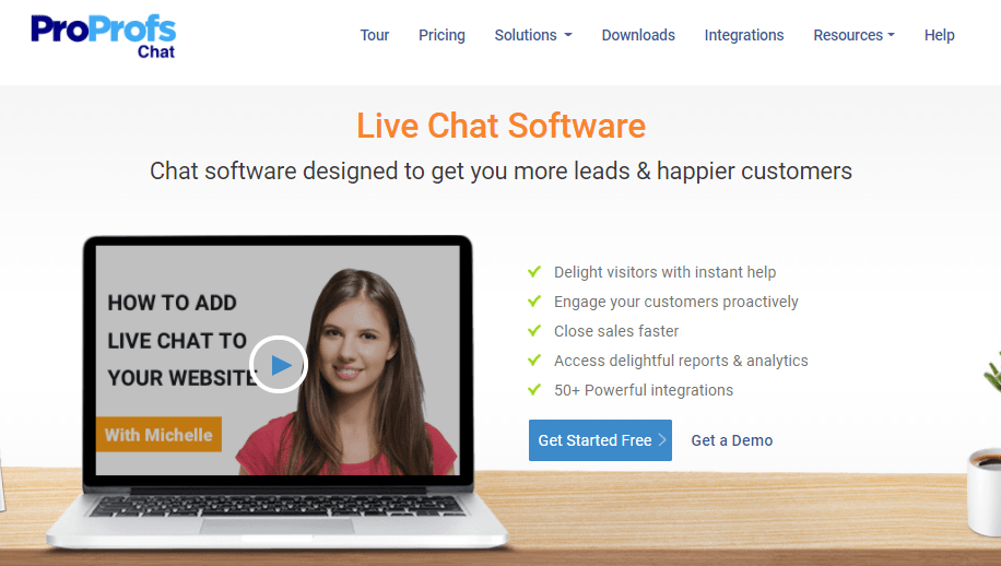 ProProfs Live chat customer service tool