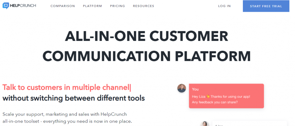 HelpChrunch customer service tool