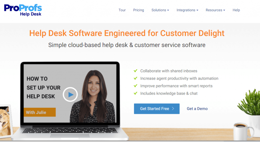 ProProfs Help Desk Software for customer service