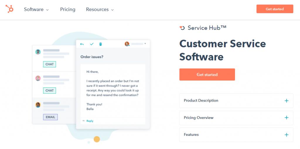 Hubspot customer service software