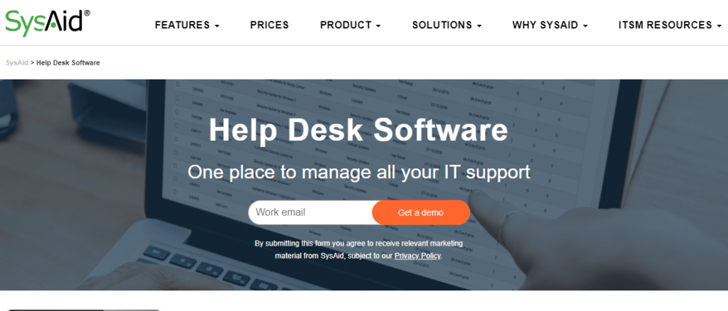SysAid Help Desk is a power-packed tool