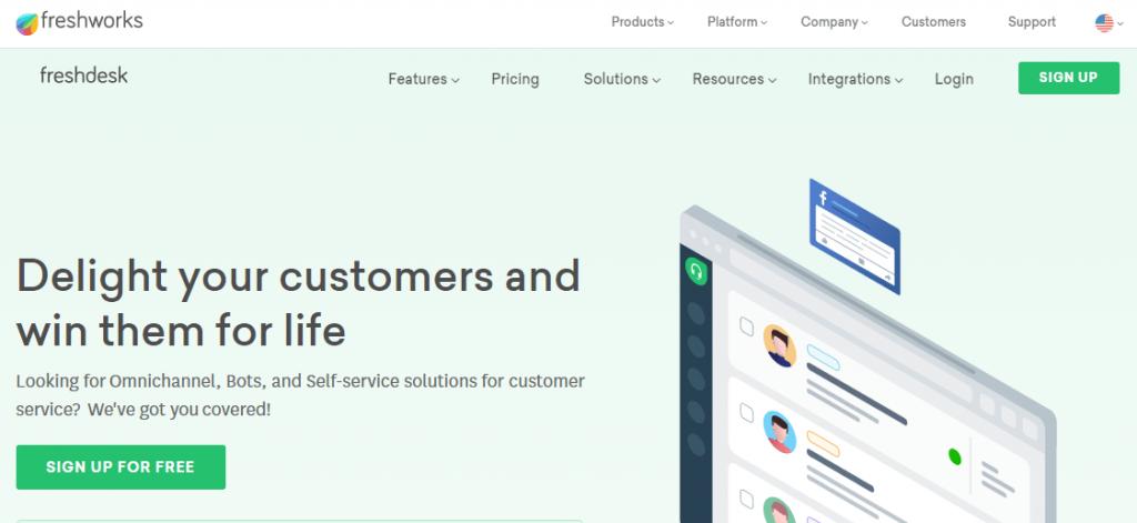 Freshdesk foro customer support