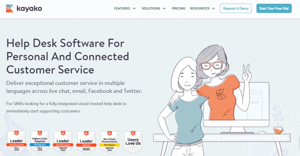 Kayako is another help desk software like Freshdesk