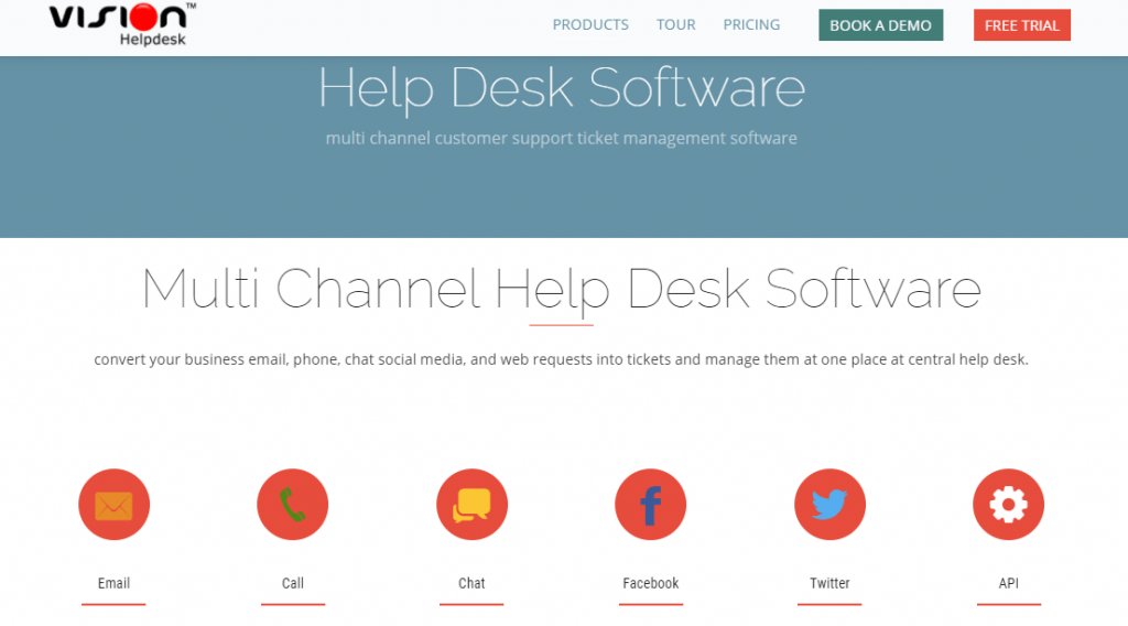 Vision Helpdesk is another software like Zoho Desk