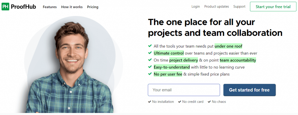 ProofHub is again one of the top tools for working remotely