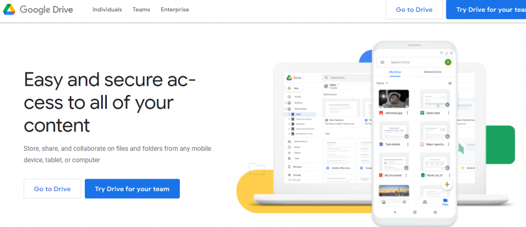 Google Drive, a popular file storage and synchronization tool