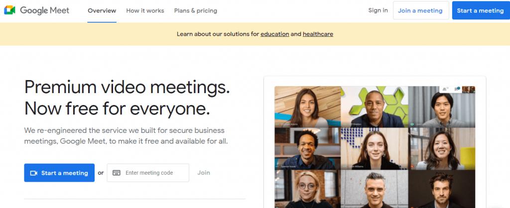 Google Meet is popular video conferencing tool