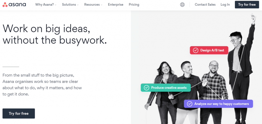 Asana is also one of the best tools for remote teams