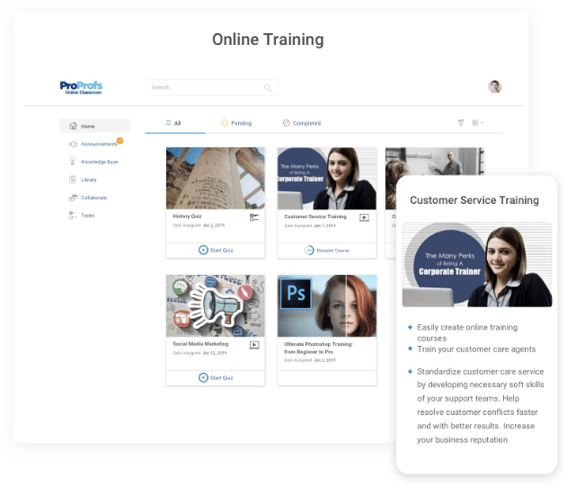 Invest in employee online training