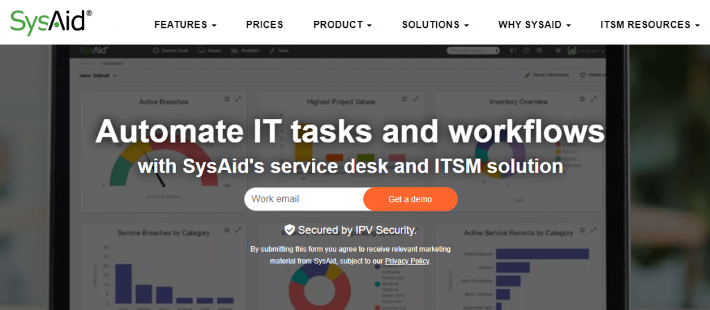 SysAid is one of the top IT service management tools