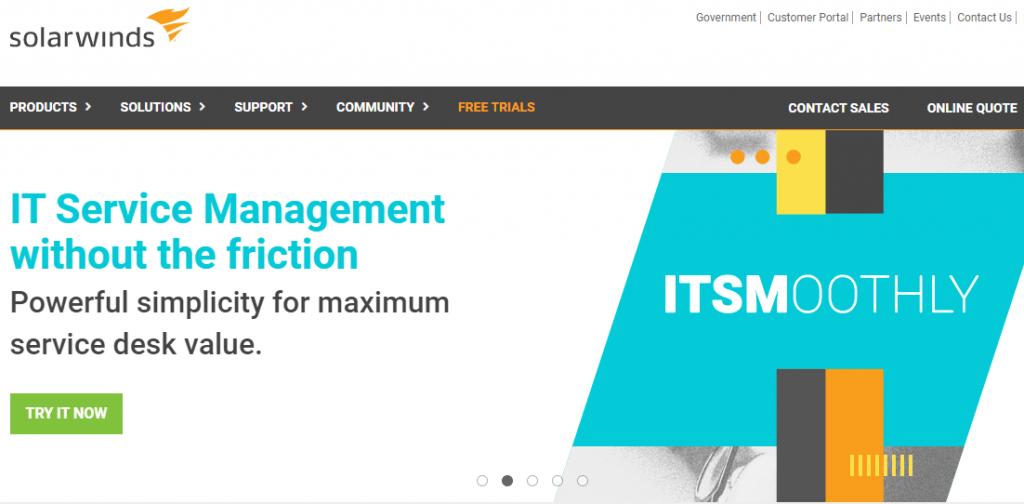 SolarWinds offers a modern ITSM system