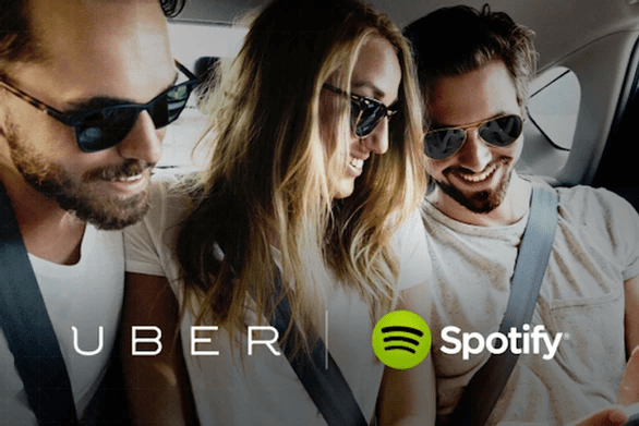Brand partnerships UBER with Spotify