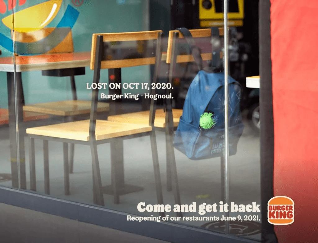 Burger King Asks Customers to Reclaim Items Left in Lockdown
