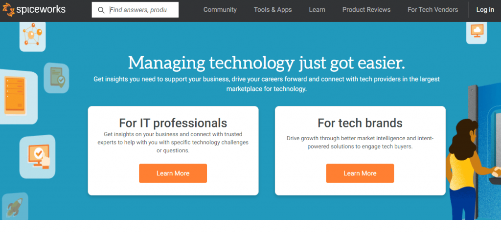 Spiceworks is a free ITSM software