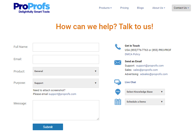 ProProfs Offers Multi-Channel Customer Service to All Users