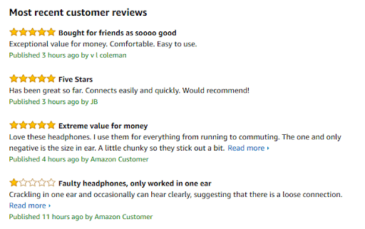 Amazon Prioritizes Products With Great Customer Reviews