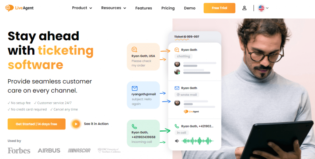 LiveAgent is another remarkable help desk ticketing system