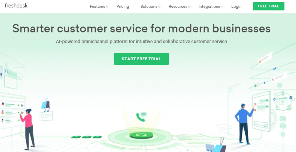 Freshdesk is one of the most popular alternatives to Vision Helpdesk