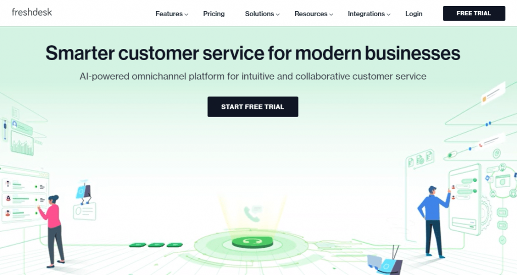 Freshdesk is another popular help desk software like GrooveHQ