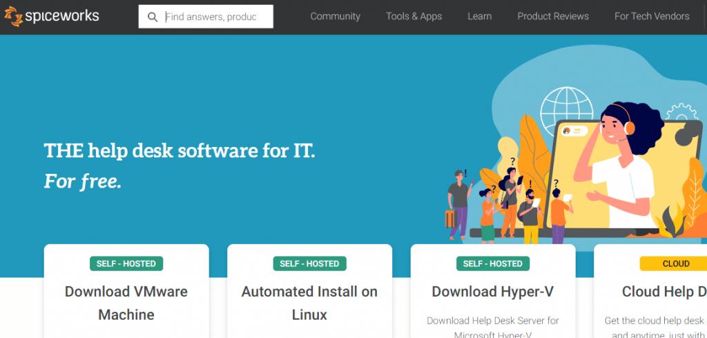 Spiceworks cloud-based help desk