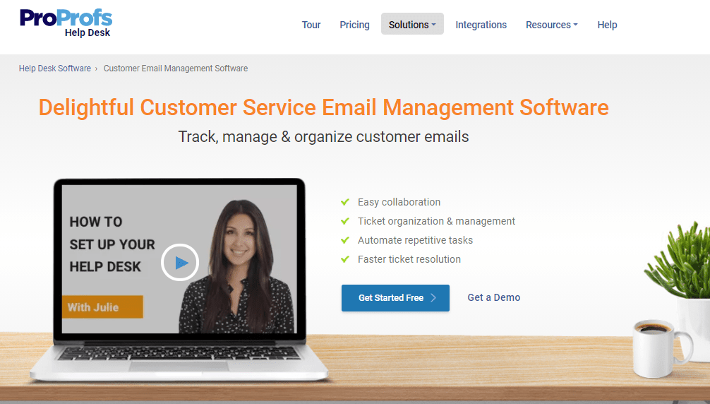 ProProfs Help Desk is one of the best email management solutions