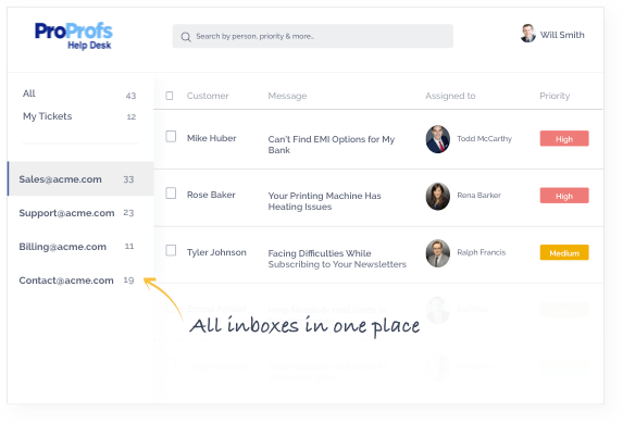 shared inboxes feature using which you can manage multiple shared email accounts under a single roo